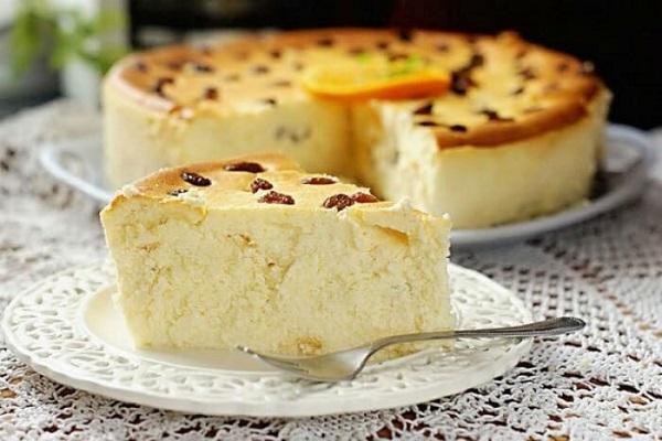 Торт «Творожное суфле с апельсином»