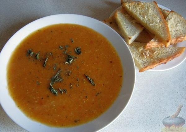 Чечевичный суп – рецепт