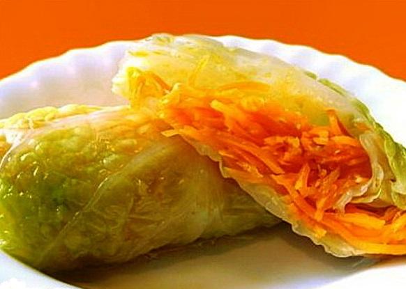 Голубцы с сырно-морковной начинкой — рецепт