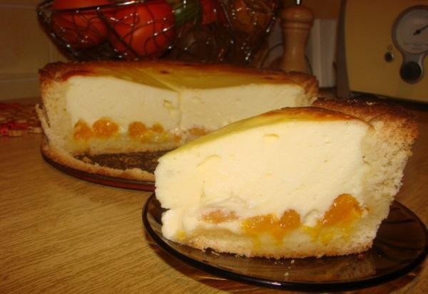 Рецепт творожного торта с мандаринами