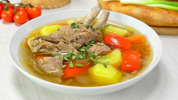 Суп «Шурпа» с бараниной