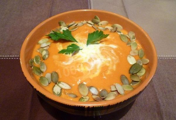 Суп-пюре из тыквы с сыром рецепт